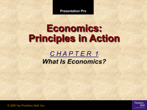 Economics Chapter 1 Notes.pps