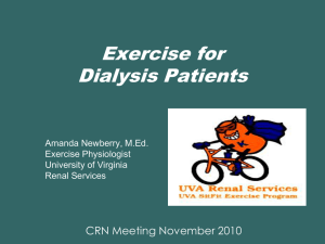 Exercise for Dialysis Patients