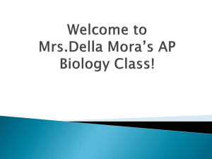 Welcome to Mrs.Della Mora's AP Biology Class!