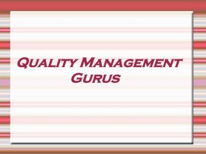 Quality Management Gurus Outline