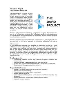 The David Project Development Associate