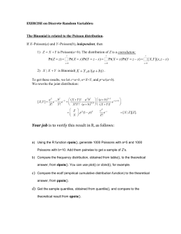 Exercise-The Binomial is related to the Poisson distribution