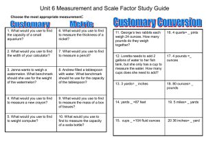 Unit 6 Measurement and Scale Factor Study Guide
