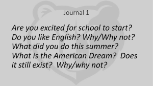 Journal 1 - West Ada School District