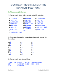 2.01) More Significant Digits Worksheets (Solutions)