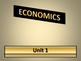ECONOMIC RESOURCES Human Resources