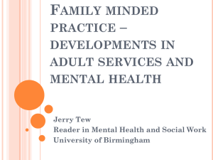 After 'Think Family' – Jerry Tew presentation (PPT)