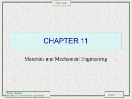 Materials and Mechanical Engineering