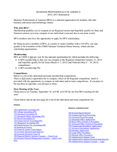 BPA Information Letter for the 2014