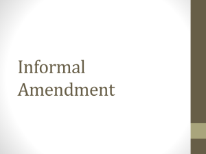 Informal Amendment