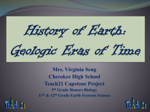 A Walk Through Geologic Time