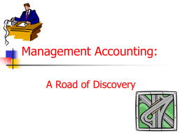 Management Accounting - California State University, Sacramento