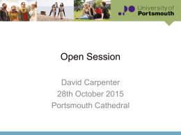 06_Open Session - Portsmouth Cathedral