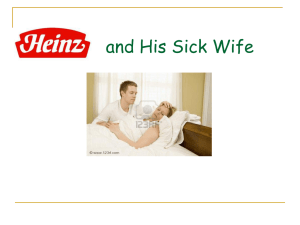 Heinz and his Sick Wife