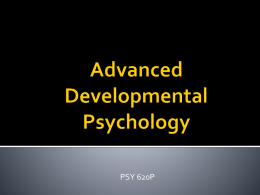 Advanced Developmental Psychology