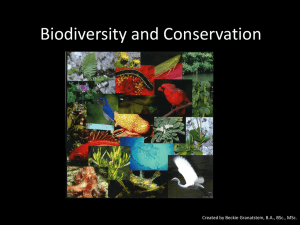 What is Biodiversity? - OE3 2012-2013