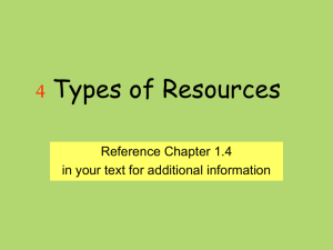 4 Types of Resources 3 Economic Questions