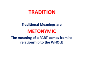 Tradition and Square (powerpoint)