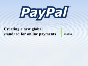 PayPal: Creating a New Global Standard for Online Payments