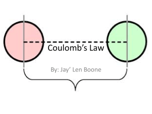 Coulomb*s Law - Final Exam Study Guides