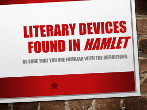 Literary Devices in HAMLET
