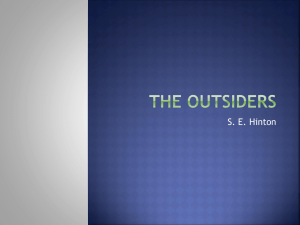 The Outsiders - North Allegheny School District