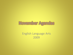 November Agendas - lifelongreaders