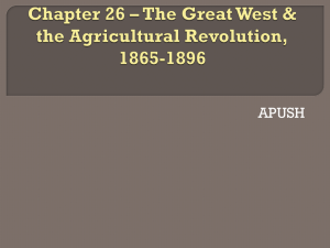 Chapter 15 * The West