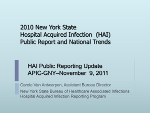 NYS HAI Reporting Program 2008 AUDIT PROCESS
