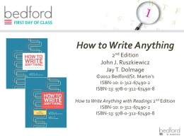 How to Write Anything - Bedford/St. Martin's
