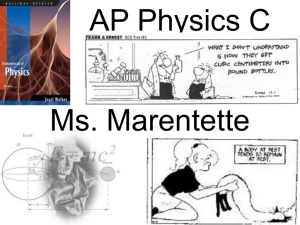 2013 AP Physics 1st day power point curriculum night 2nd trimester[1].
