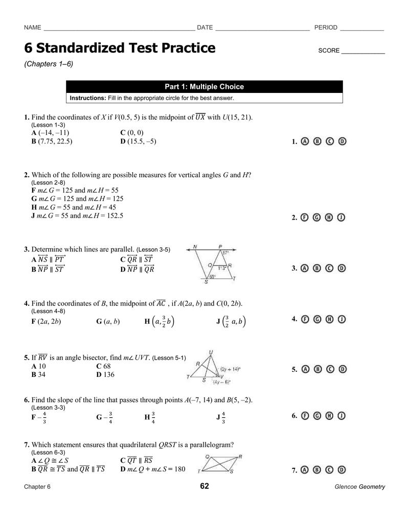 Ch Standardized Test Review 1-6