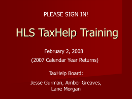 HLS TaxHelp - Harvard Law School