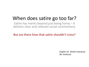 When does satire go too far PPT