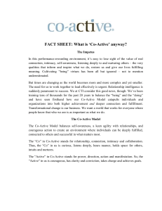 'Co-Active' Anyway?