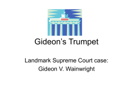 summer assignment  gideon s trumpet