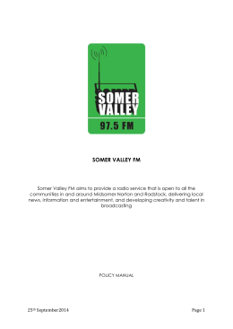 structure - Somer Valley FM