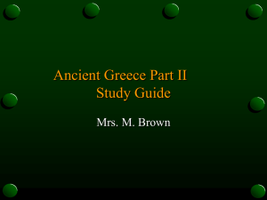 Ancient Greece Part II Study Guide