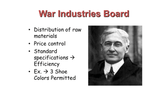 War Industries Board - Nutley Public School District