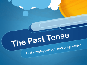 The Past Tense - WordPress.com