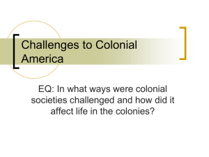 Challenges to Colonial America PPT