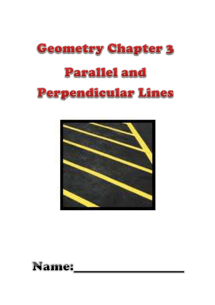 Geometry Chapter 3 Packet