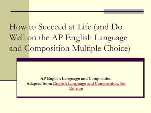 Kinds of Questions on the AP English Language and Composition