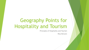 Geography Points for Hospitality and Tourism