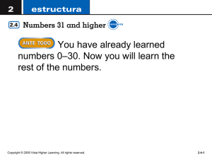 higher numbers ppt