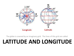 MAP SKILLS - Latitude & Longitude