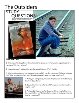 outsiders chapter study guides