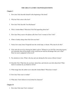 Great gatsby study guide answers