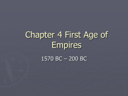 The First Age of Empires