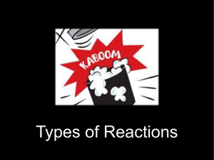 Types of Reactions Summary - divaparekh